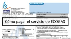 C贸mo pagar el servicio de ECOGAS…